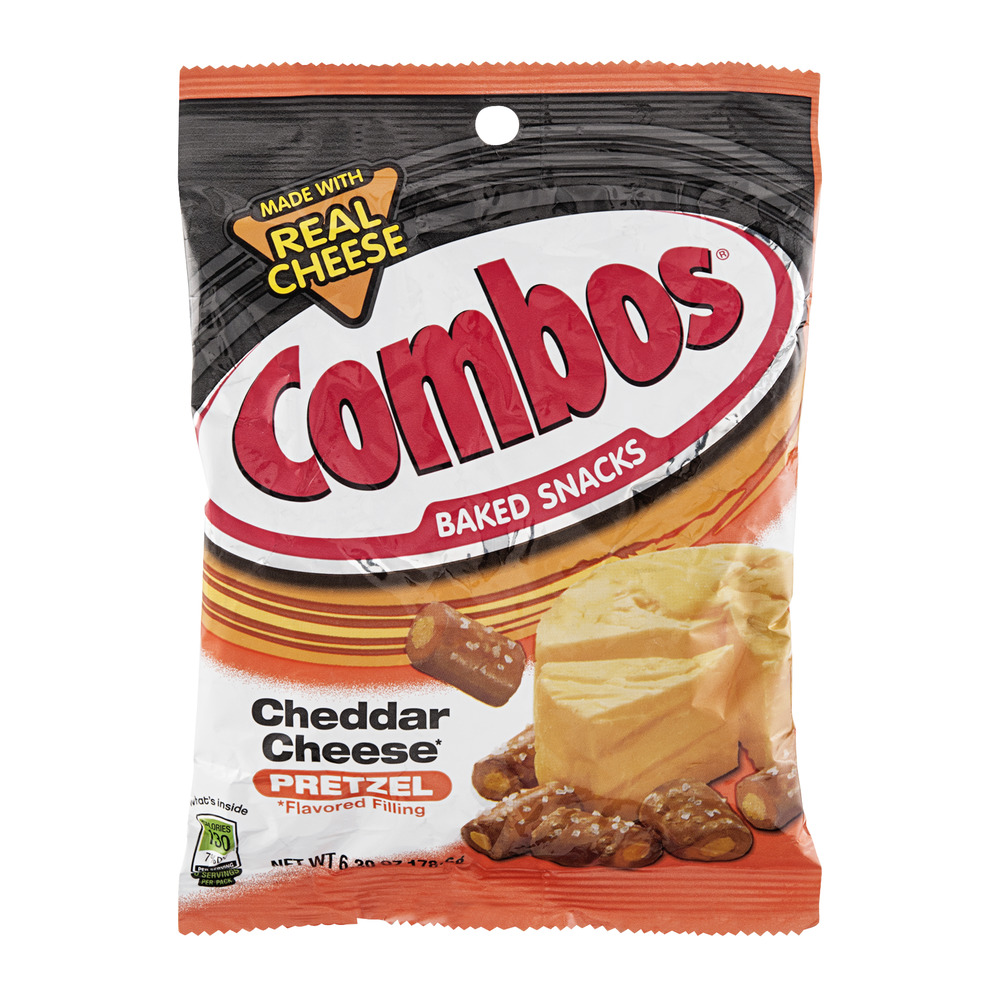 Combos Baked Snacks Cheddar Cheese Pretzel, 6.3 OZ