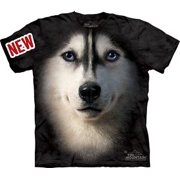 Siberian Husky Face Adult T-Shirt 10-3337