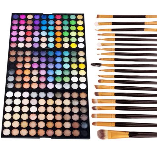 180 Colors Cosmetic Matte Smoky Eyeshadow Set Pearl Shimm...