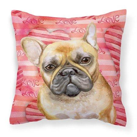 Carolines Treasures BB9775PW1414 French Bulldog Love Fabric Decorative Pillow - image 1 de 1