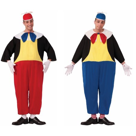 Adult Alice in Wonderland Tweedle Dee and Tweedle Dum Male Costumes](Tweedle Dee And Tweedle Dum Womens Costumes)
