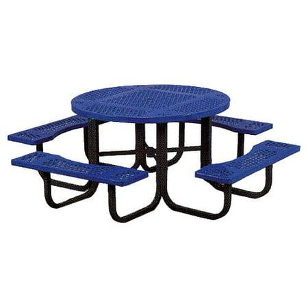 Astounding Paris Equipment Commercial Round Picnic Table With Umbrella Hole Machost Co Dining Chair Design Ideas Machostcouk
