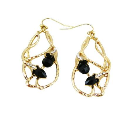 Bohemian Beaded Design Earrings Black](Black Beaded Earrings)