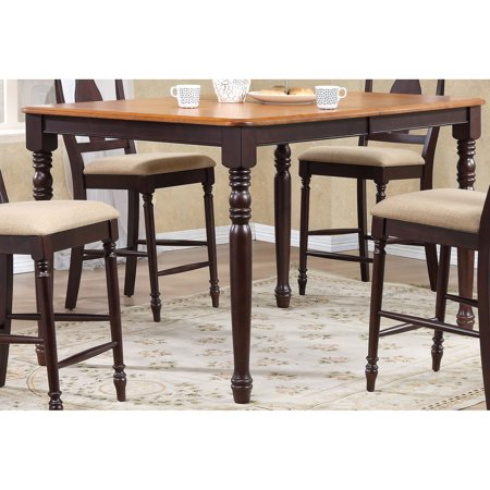 Iconic Furniture 67 In Extendable Counter Height Dining Table With Turned Leg
