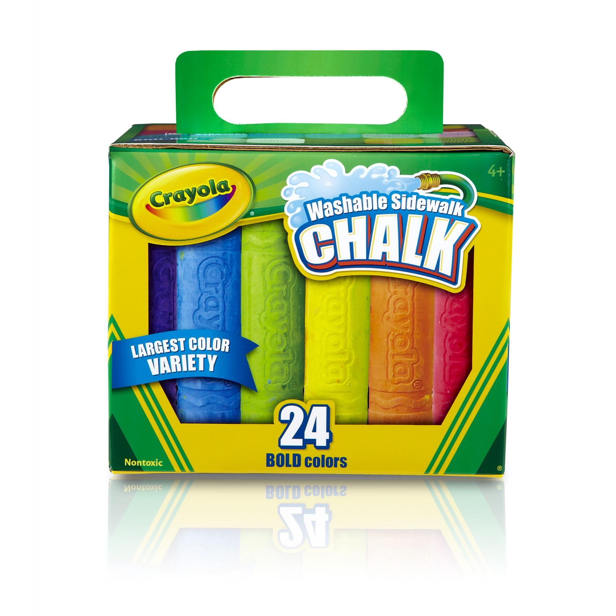 Crayola Washable Sidewalk Chalk In Assorted Colors, 24 Count