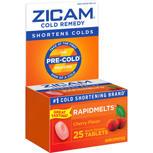 Zicam Rapidmelts Cherry Cold Remedy 25 Ct
