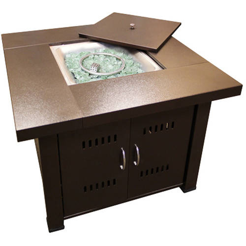 Hiland Firepit Hammered Bronze Finish by AZ Patio Heaters