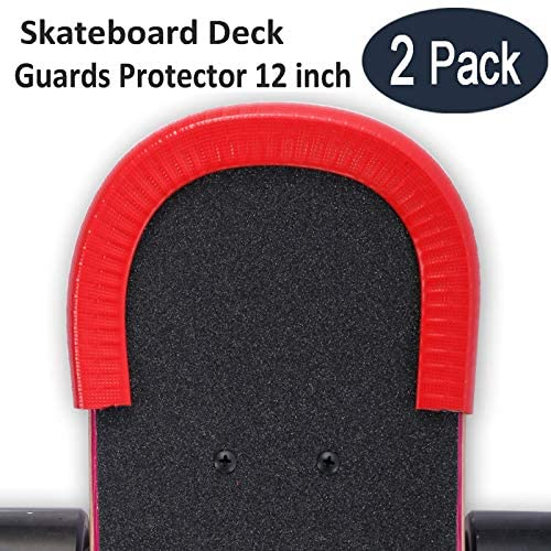 Boys Youths Beginners Acoser Skateboard Deck Guards Protector,Longboard Deck Edge Protection,Durable Shock Absorbing Rubber Cover with Excellent Longboard Nose Guard and Tail Guard for Kids Girls