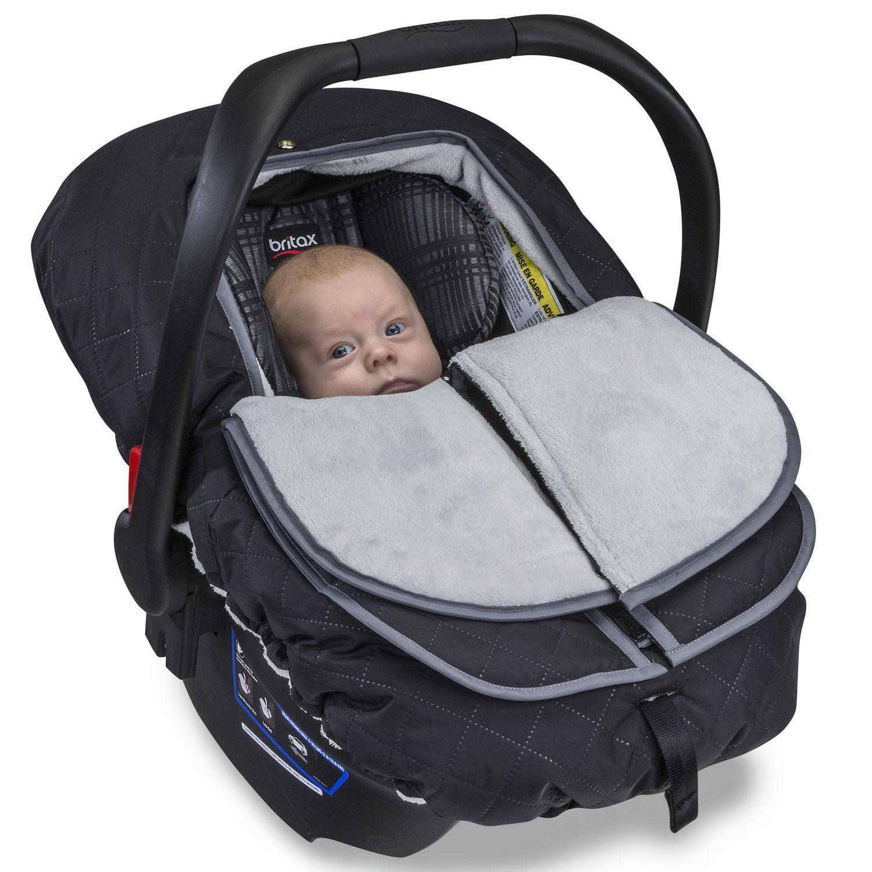 Britax B-Warm Insulated Infant Car Seat Cover - Polar Mist ...