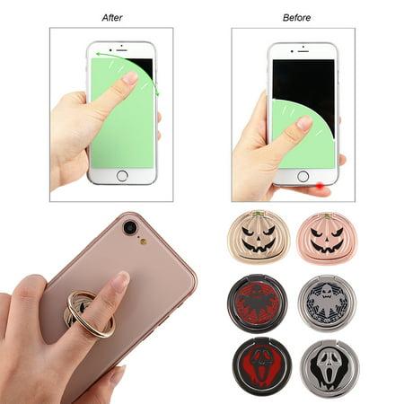 VBESTLIFE Universal Mini Mobile Phone Ring Holder Bracket Ghost/ Grimace/Pumpkin Type for Halloween, Phone Holder,Mini Phone Holder
