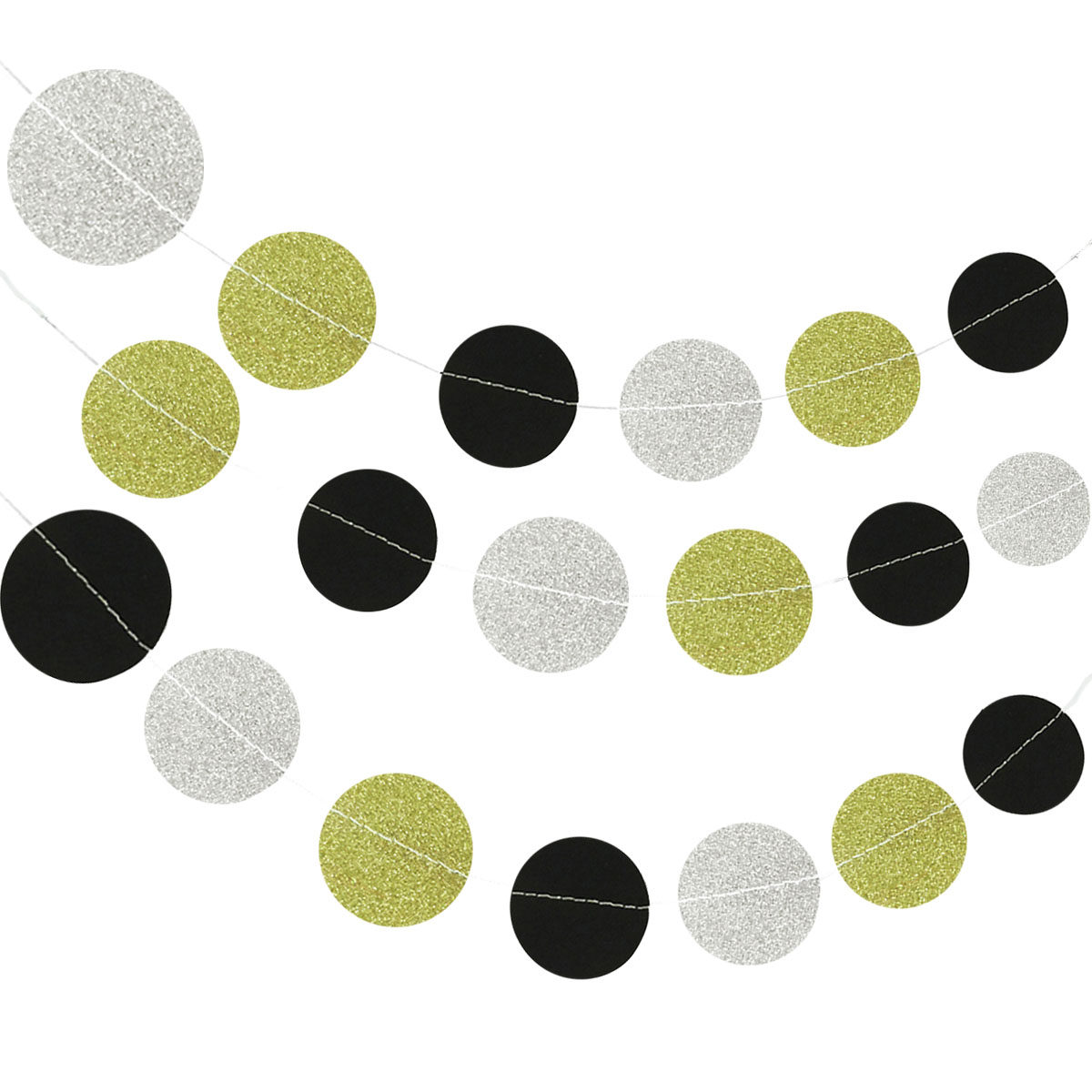 Wrapables® 13ft Paper Circle Dot Garland Party Decorations for Weddings, Birthday Parties, Baby Showers, and Nursery Décor (Set of 2), Aqua/Blue/White
