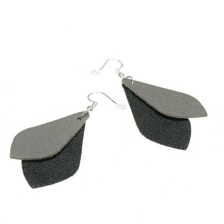 Fashion Petal Leather Earrings Women Girls Teardrop Earrings Vintage & ElegantLeaf Dangle Drop Earrings