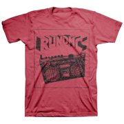 Run DMC Men's  Sketch Boombox T-shirt Red