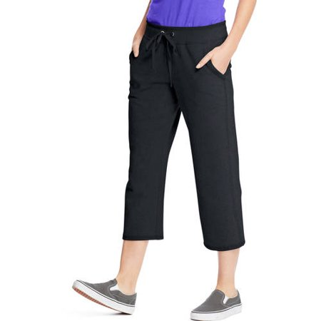 Hanes Women's 22 French Terry Capri with Pockets