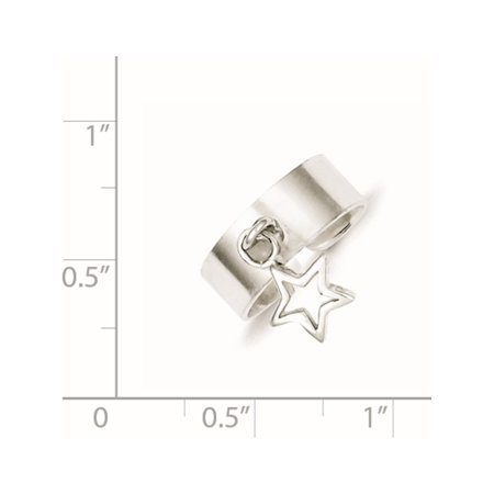 925 Sterling Silver Star Dangle Toe Ring - image 1 of 2