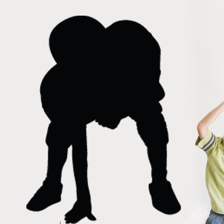Wallhogs Football Player Stance Silhouette Cutout Wall Decal](Football Player Cutouts)
