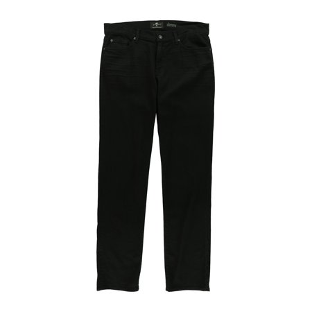 7 For All ManKind Mens Straight Slim Fit Jeans black -