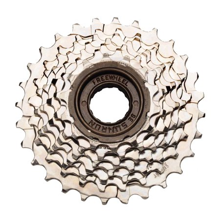 SunRun Seven Speed Freewheel, 14-34T, Nickel