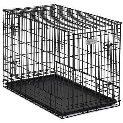 "Midwest Solutions Series Side-by-side Double Door Suv Dog Crates Black 36"" X 21"" X 26"" - image 1 de 1"