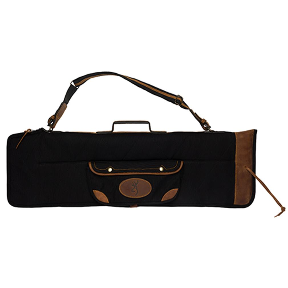 Browning Lona Canvas/Leather Over/Under Takedown Case Black/Brown