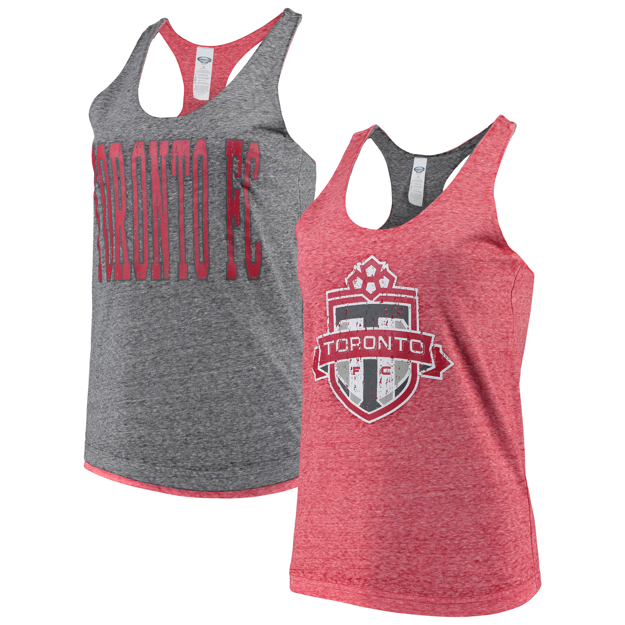 Toronto FC Concepts Sport Women's Squad Reversible Tank Top - Red/Charcoal