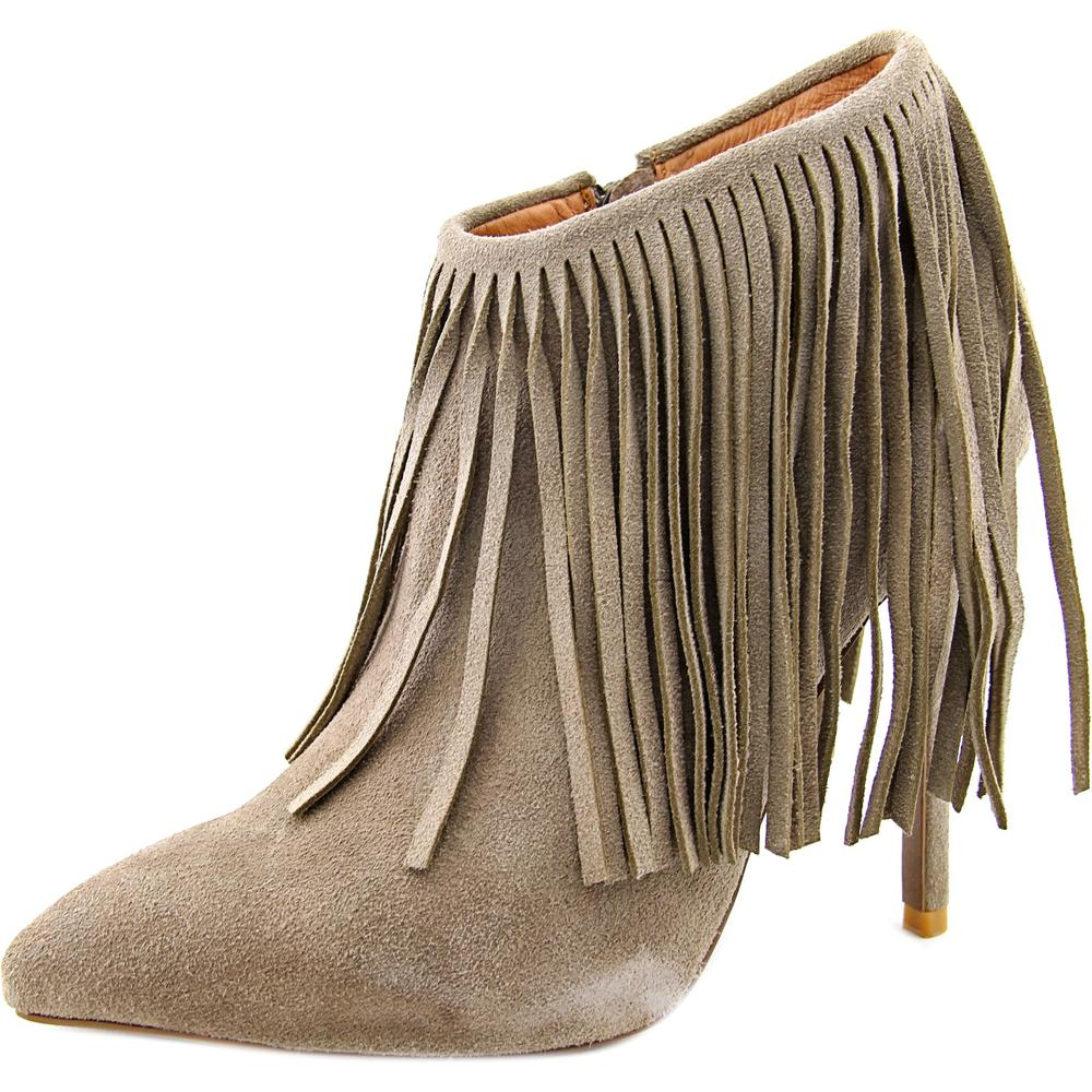Matiko Kacie Women  Pointed Toe Suede Tan Ankle Boot