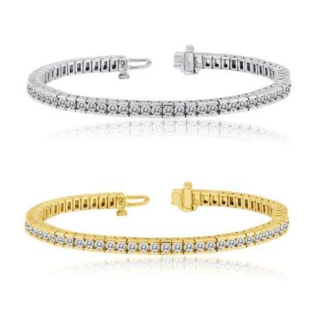 0e7c14782 Auriya 14k Gold 3 to 10ct TDW Diamond Tennis Bracelet (H-I, I1-I2) Yellow  Gold-7CT