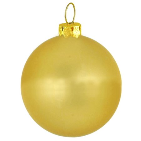 Matte Twilight Gold Commercial Shatterproof Christmas Ball Ornament 4