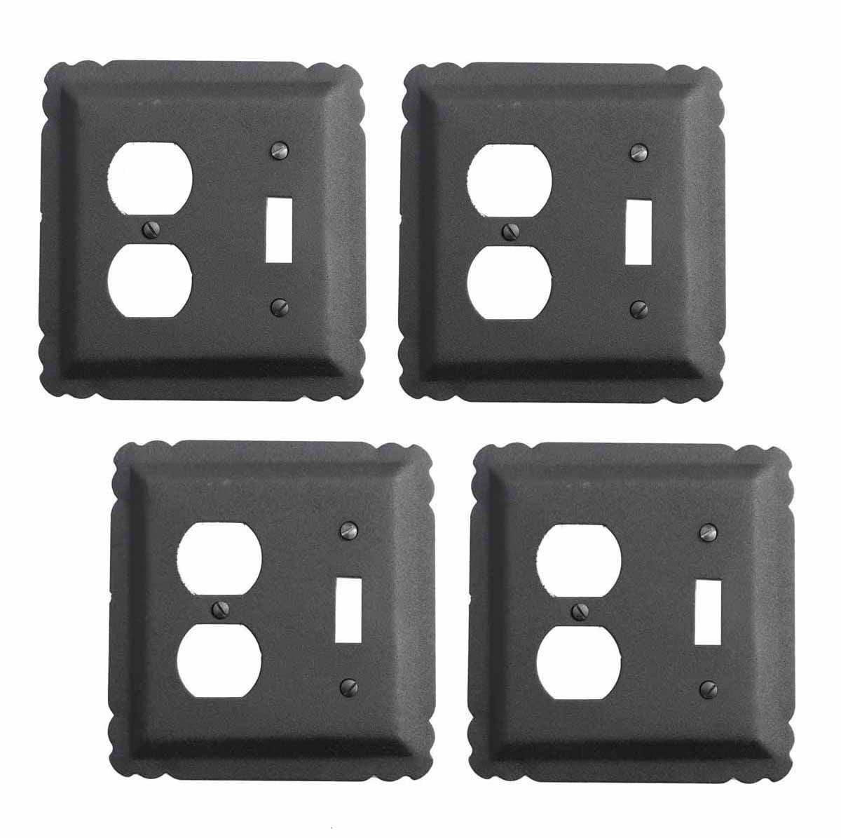 4 Switchplate Black Wrought Iron Toggle/Duplex | Renovator's Supply