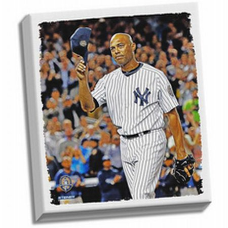 New York Yankees Mariano Rivera Final Game Tip Cap Stretched 22x26 Canvas - image 1 de 1