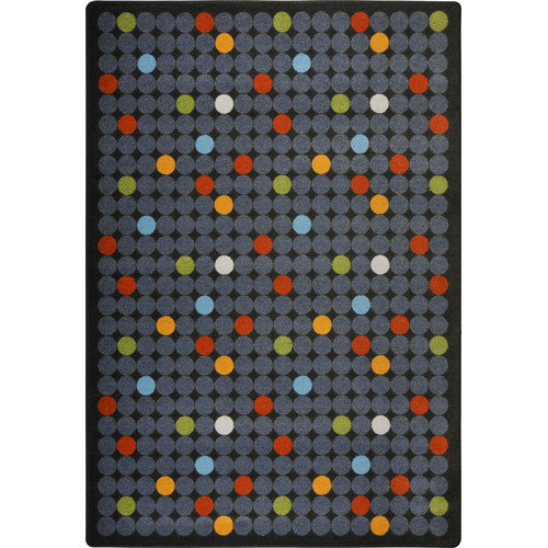 Joy Carpets Playful Patterns Spot On Grey Area Rug