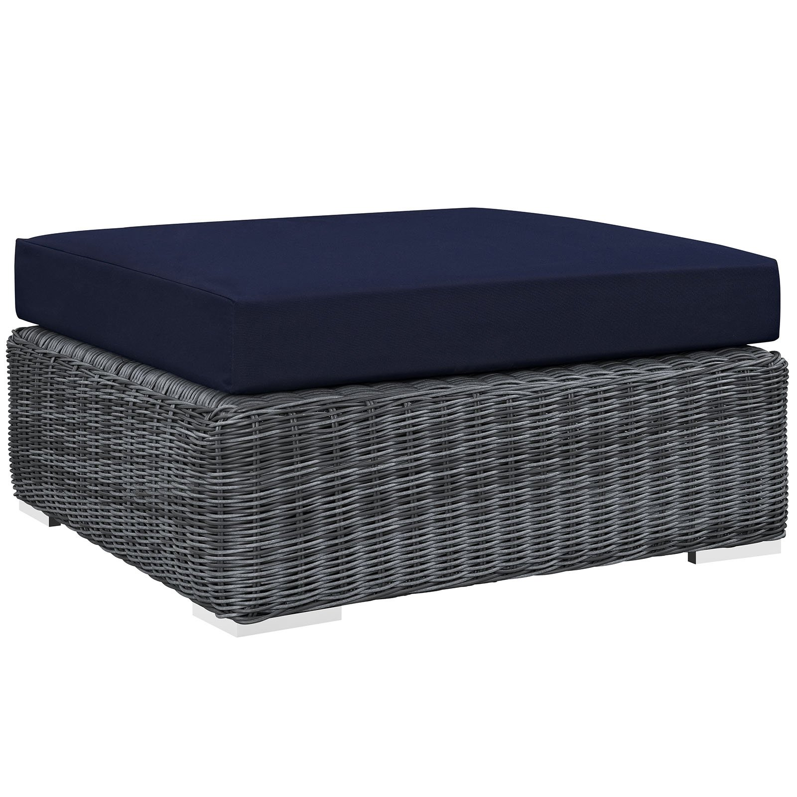 Modway Summon Outdoor Patio Sunbrella Square Ottoman, Multiple Colors