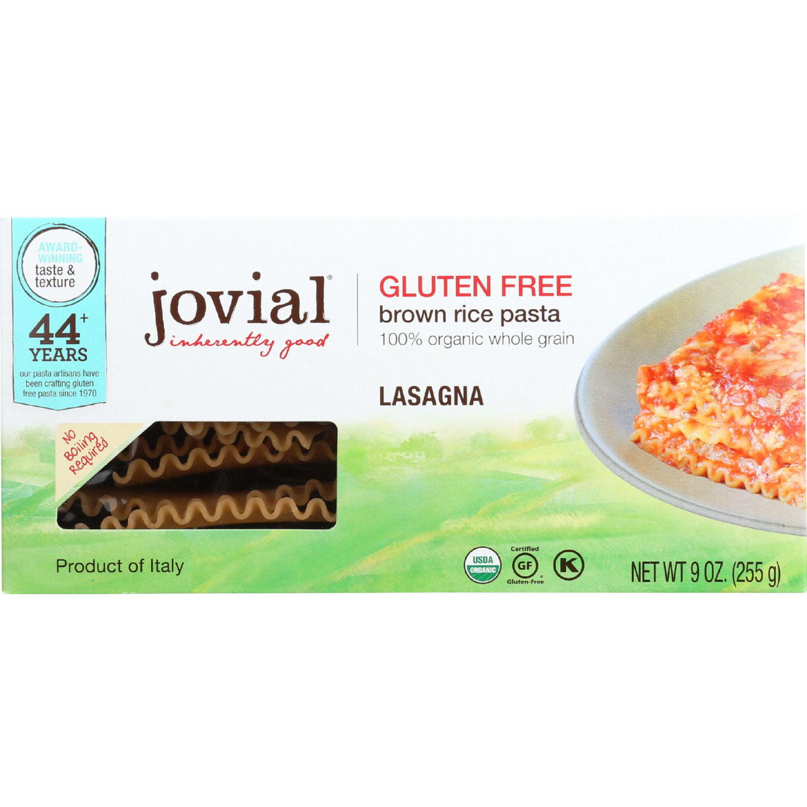 Jovial Pasta Organic Brown Rice Lasagna 9 oz case of 12 by