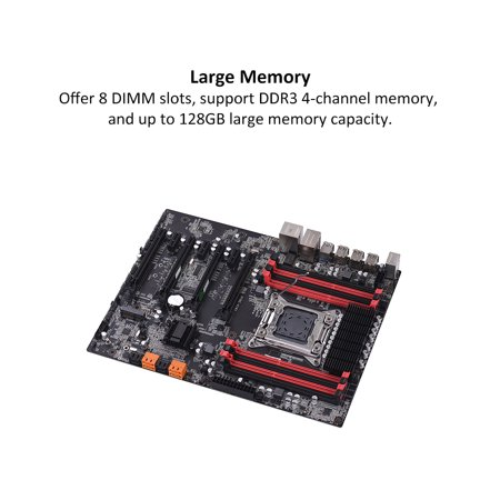 X79Z-V161 Motherboard EATX ECC LGA2011 SATA 3.0 USB 3.0 Ports Motherboard DDR3 128GB Memory Capacity for 2018 Intel Computer - image 3 de 7