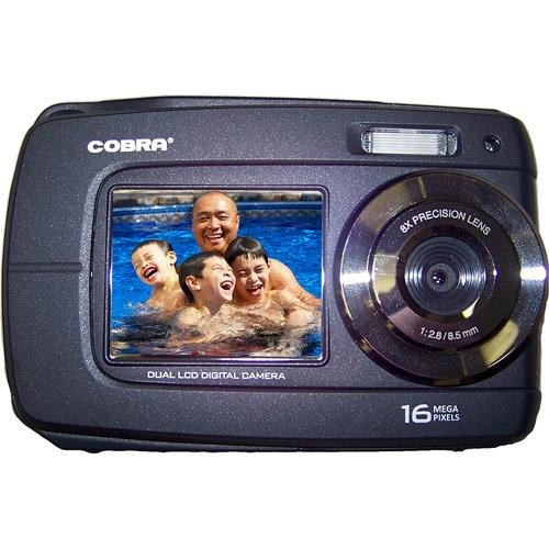 Cobra Digital CBD-DCA1670-BLACK 16MPX Dual View Digital Waterproof Cam
