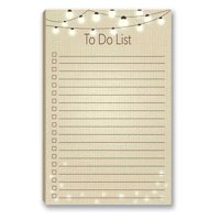"""Rustic To-Do List Magnetic Notepad - 5.5"""" x 8.5"""" - 50 Sheets Per Pack - B45004"""