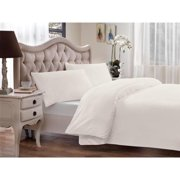 Brielle Modal from Beech Percale 3-piece Duvet Cover Set Twin, Off-White