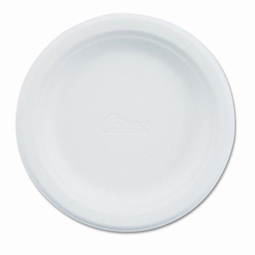 CHINET Paper Dinnerware, Plate, 6'' Diameter, White, 1000 per Carton