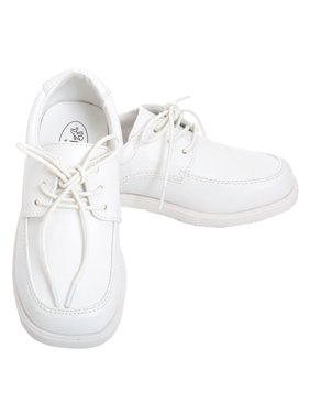 White White Lace Up Oxford Christening Shoe Baby Boy 3-Toddler Boy 10