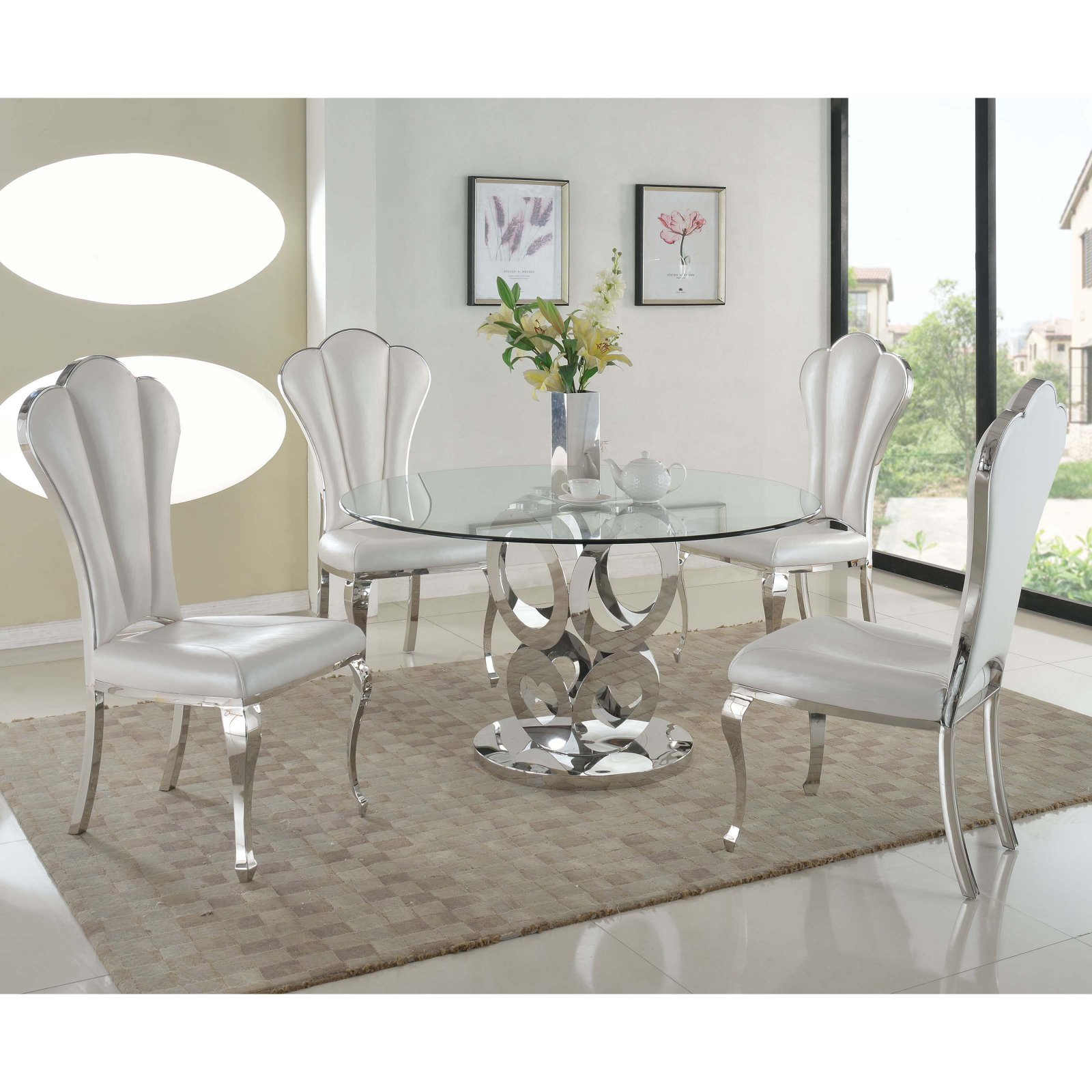 Chintaly Raegan 5-Piece Dining Table Set