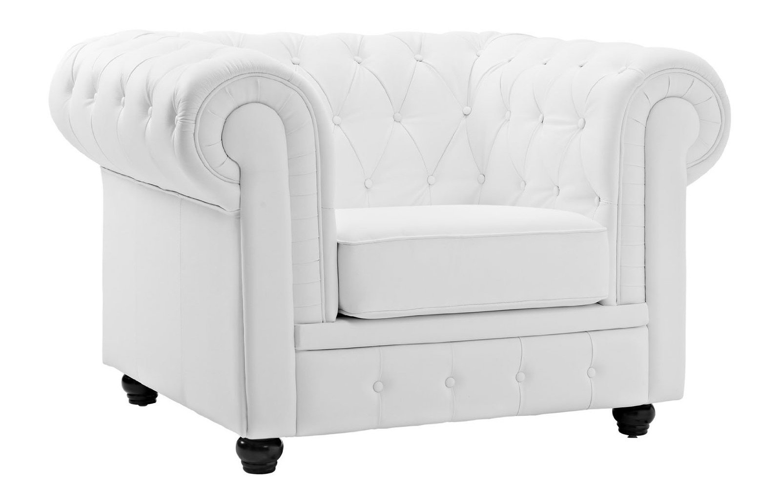classic scroll arm tufted boned leather chesterfield accent chair