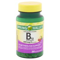 Spring Valley Vitamin B12 Microlozenges, 5000 mcg, 200 Count