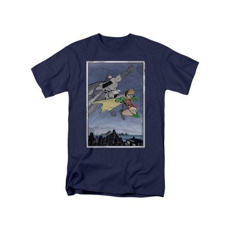 Batman DC Comics Dkr Duo Batman and Robin Adult T-Shirt Tee (Batman And Robin Suits)