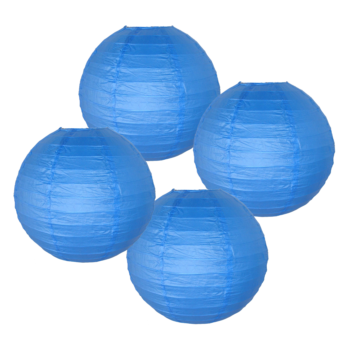 """Just Artifacts 16"""" Gold Chinese Japanese Paper Lanterns (Set of 4) - Decorative Round Chinese/Japanese Paper Lanterns for Birthday Parties, Weddings, Baby Showers, and Life Celebrations!"""