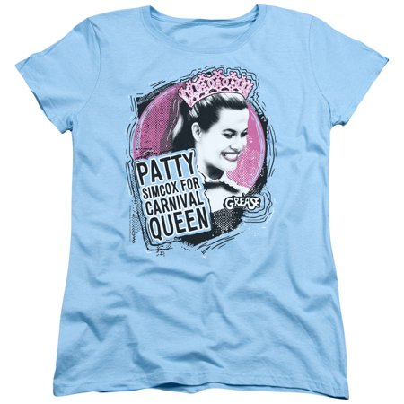 Grease Carnival Queen Womens Short Sleeve Shirt