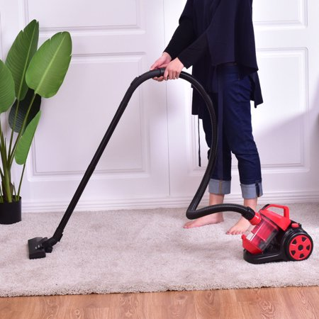 Costway Vacuum Cleaner Canister Bagless Cord Rewind Carpet