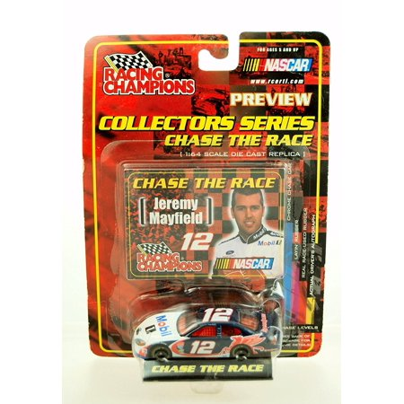 2001 - Ertl - - NASCAR - Chase the Race Series - Jeremy Mayfield #12 - Mobil 1 - Ford Taurus - 1:64 Scale Die Cast - Limited Edition - Collectible, Ertl - Racing.., By Racing Champions