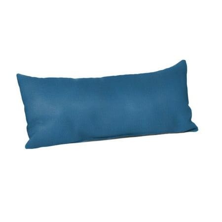 Sunbrella Pillow Covers - Sunbrella Rectangle 22 x 9 in. Throw Pillow - Canvas Regatta