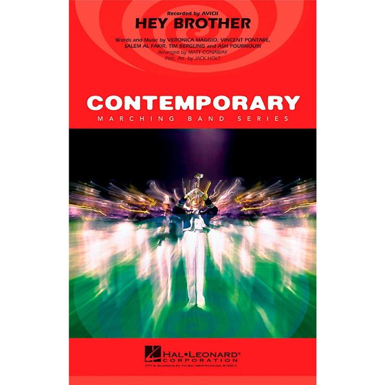 Hal Leonard Hey Brother - Pep Band/Marching Band Level 3 - Walmart.com