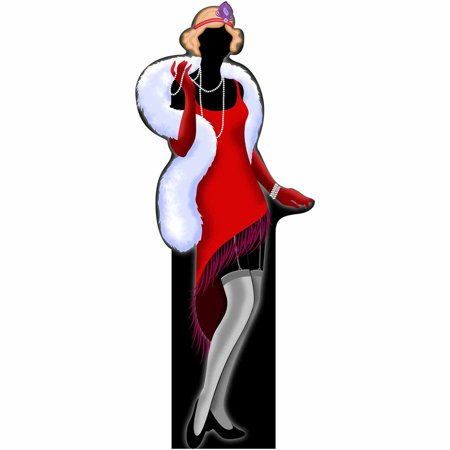 1920'S Flapper Girl Standee](1920's Decoration)